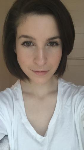 Essence Make Me Brow applied to both eyebrows